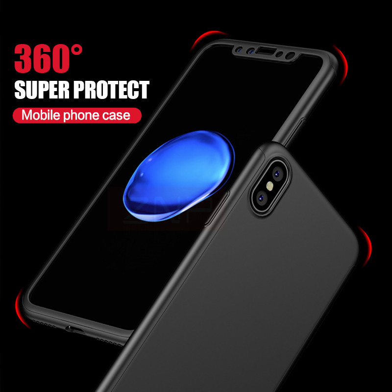 ZNP Luxury 360 Degree Shockproof Full Cover Red Case For iPhone X Back Plastic Phone Bag For Apple iphone X...  iphone x cases 360 protection ZNP Luxury font b 360 b font Degree Shockproof Full Cover Red font b Case b