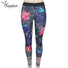Colorful Floral Printed Yoga Sports Long Pants Fitness Leggings For Women Sports Leggings Yoga Pants Women Running Pants Tights