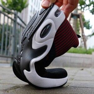 Image 4 - Gevulkaniseerd Schoenen Mannelijke Sneakers 2019 Fashion Zomer Lucht Mesh Ademend Wiggen Sneakers Voor Mannen Plus Size 38 44 Buty meskie