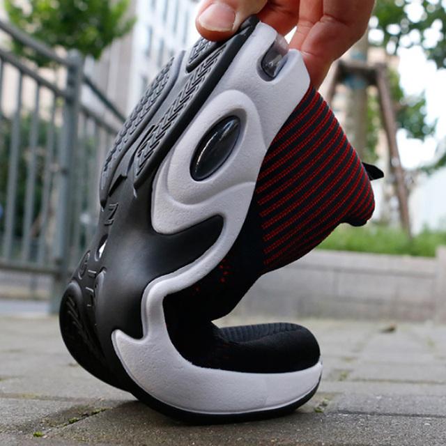 81022fa1f7dc6d Wulkanizowane buty męskie sneakers 2019 moda lato powietrze Mesh  oddychające kliny sneakers for Men plus rozmiar 38-44 buty męskie
