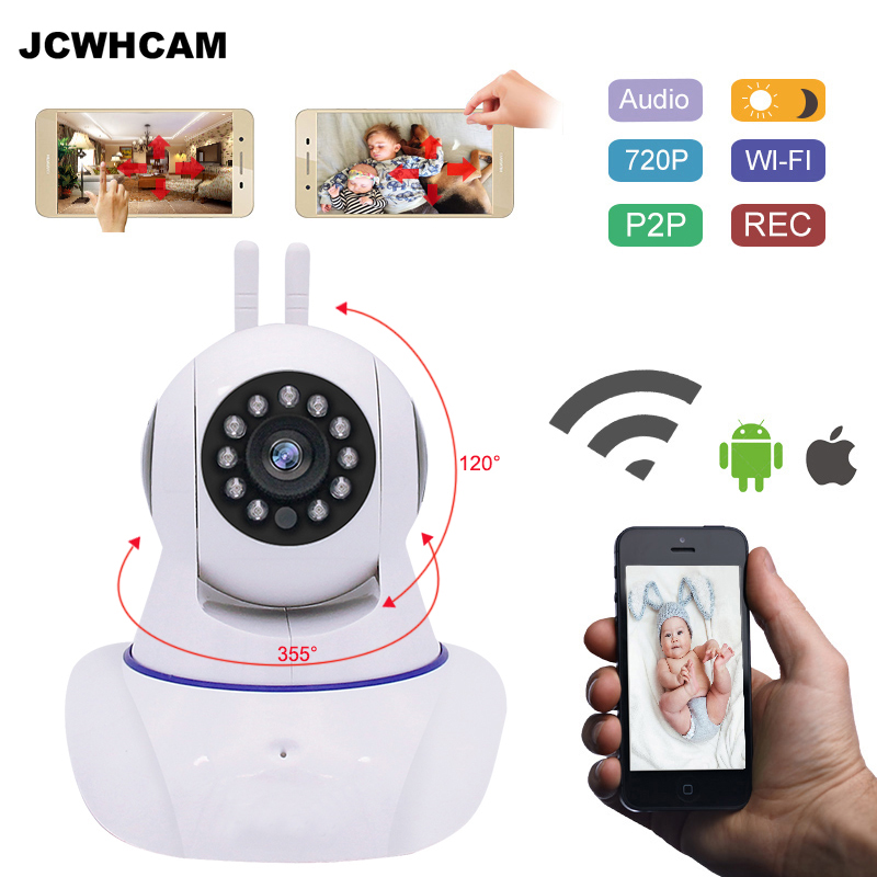 JCWHCAM Home Security IP Camera Wireless Smart WiFi Camera WI-FI Audio Record Surveillance Baby Monitor HD Mini CCTV Camera leshp smart home security camera system personal wireless lighting table lamp smart 2mp image sensor wifi mini ip camera