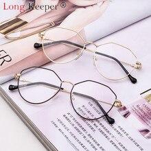 8b3be5a88 طويلة حارس Ritro البصرية العين نظارات الأضلاع النظارات نظارات معدنية الإطار  واضح عدسة نظارات أزياء للجنسين