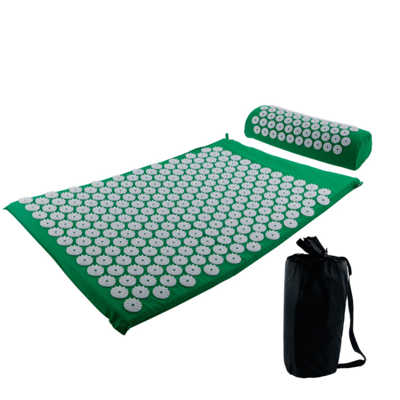 Yoga Massager Mat Pillow With Bag Acupuncture Shakti Relieve Back Body Green Massage Pain Rose Spike Acupuncture Health Life in Massage Relaxation from Beauty Health