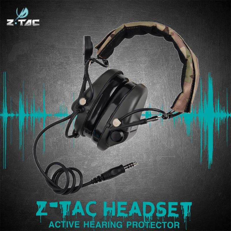 Z-tac Z110 TEA Releases New  Hi-Threat Tier  Headset Softair Outdoor Headband Version