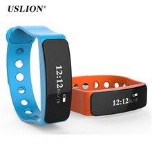 Uslion v5s bluetooth 4.0 ip66 водонепроницаемый спорт смарт браслет tracker здоровье анти-потерянный smartband браслет для android iphone