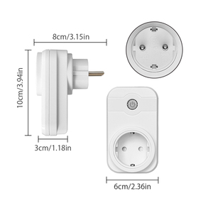 Image 2 - NTONPOWER Wifi Plug Smart EU Socket with App Remote Control Timer Wifi Socket remote wireless Controls for Alexa