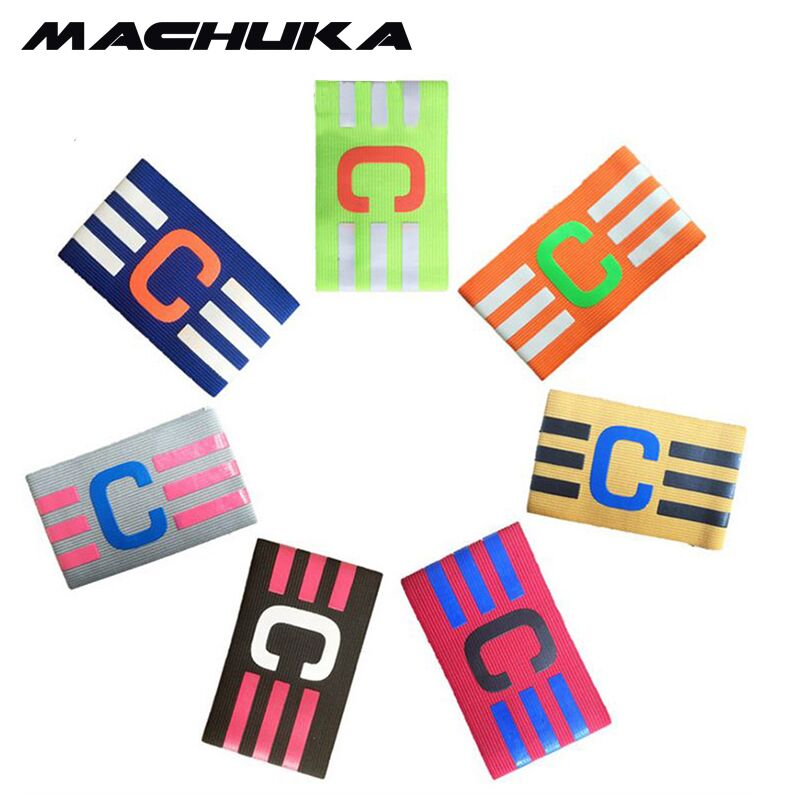 MACHUKA Store MACHUKA Football Elastic Fabric Captain Armband Stripe Hockey Rugby Sports Adjustable Games Tournament Soccer Skippers Armbands