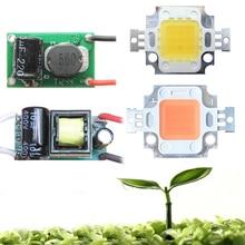 10W White Full Spectrum 380~780nm / Full Spectrum 400-840nm LED Diodes + AC 110-220V Or DC 12-24V LED Driver For Plant Grow