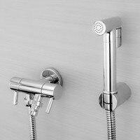 Free shipping Brass Bidet Spray Set Bidet toilet seat sprayer set spray gun car wash garden floor Bathroom Toilet shower BD442