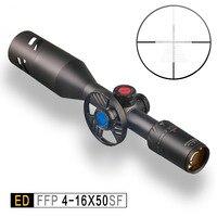 Обнаружение ED 4-16x50 SF оптический прицел Охотничья винтовка Scope Коллиматорный прицел чрезвычайно низкая Хроматическая дисперсия первая фока...