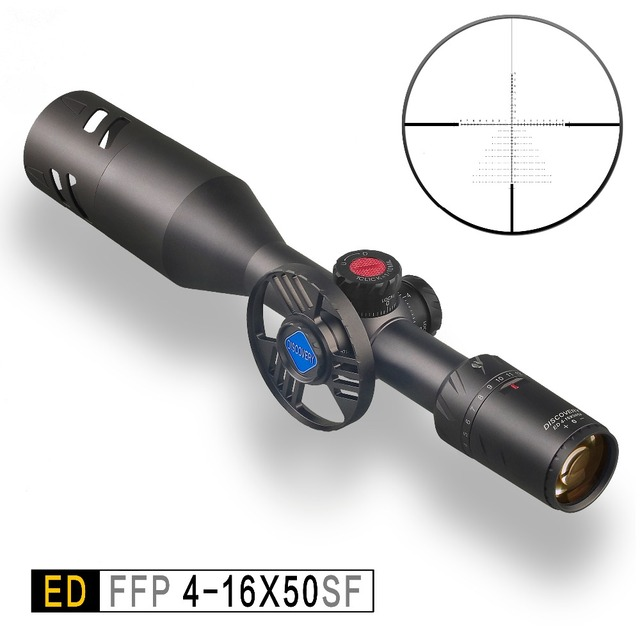 Discovery ED 4-16x50 SF optische sight Hunting Rifle Scope collimator sight extreem lage chromatische dispersie Eerste Focal Plane