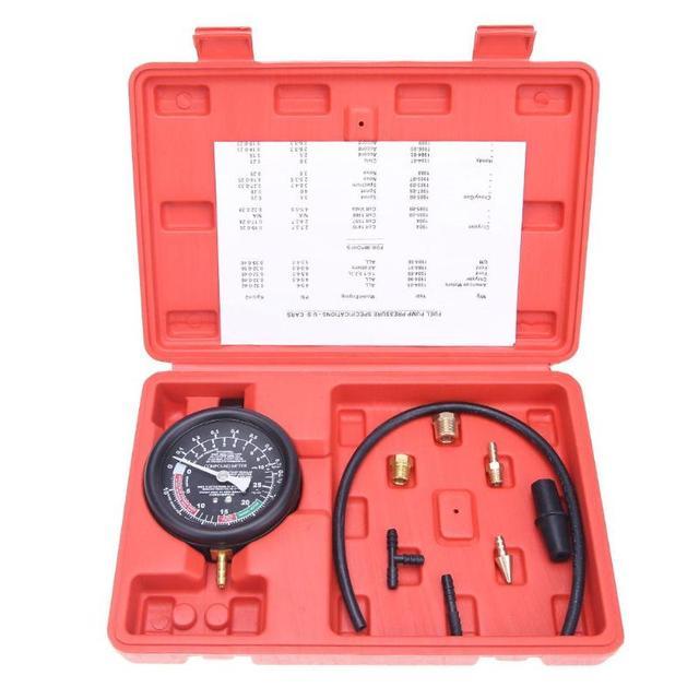 Pressure Gauge Tester Auto Engine Vacuum Car Petrol Gas Compressor Detector Diagnostic Tool Heavy Gauge Protective Rubber Case