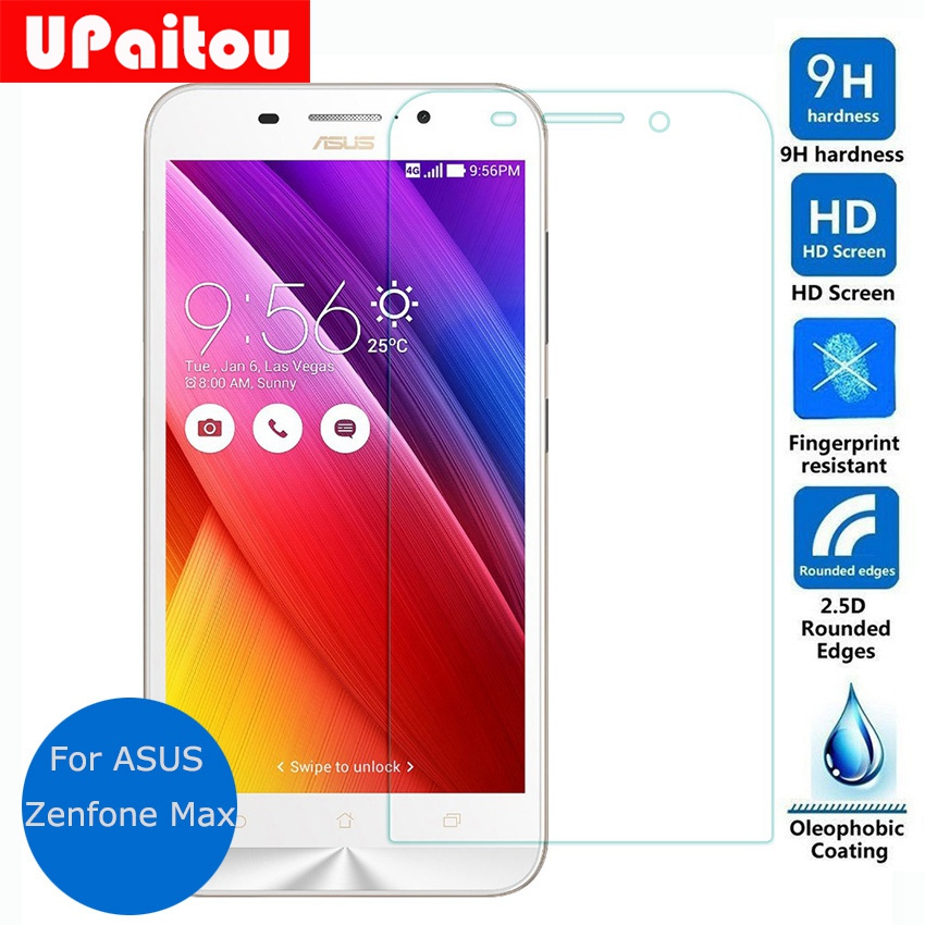 UPaitou Screen Protector For Asus Zenfone Max ZC500KL Tempered Glass Screen Protector Film on zc550kl 550KL Dual Sim
