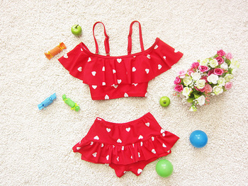 2017 Girls summer love design swimsuit , baby girl swimsuit , swimwear girl , 3pcs/lot WZ06