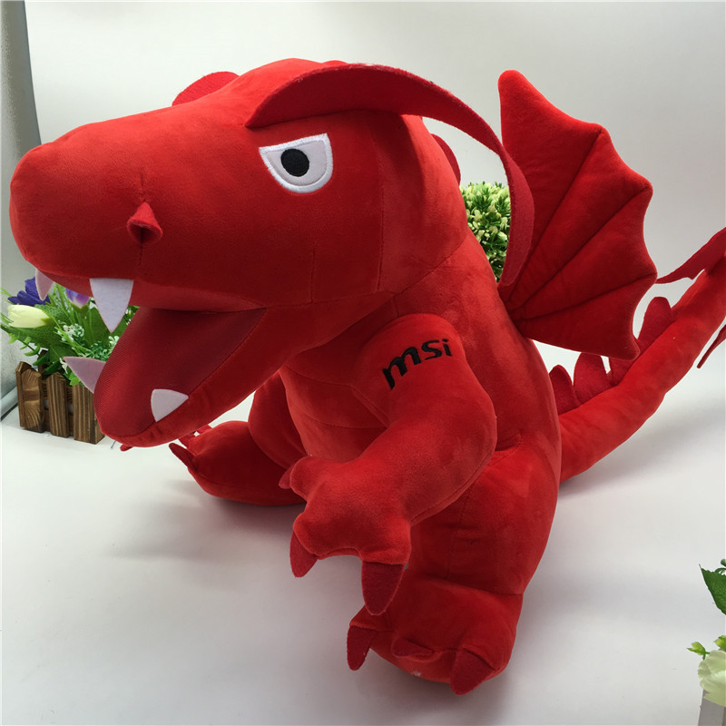 45cm New Kids Plush Toys Big Red Dinosaur Stuffed Animals & Plush Toys for Children Fire Dragon Animals & Plush Doll Baby Toys