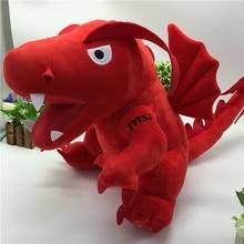45cm New Kids Plush Toys Big Red Dinosaur Stuffed Animals & Plush Toys for Children Fire Dragon Animals & Plush Doll Baby Toys