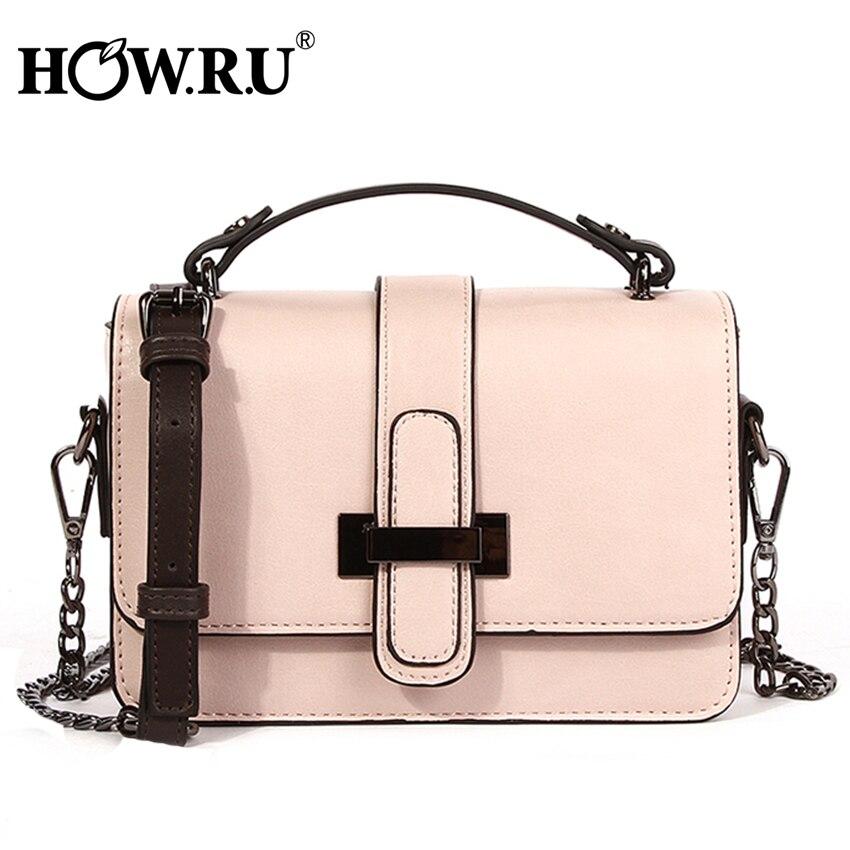 HOWRU Brand PU Leather Women Bags Designer 2019 Small Chain Side Bag Fashion Woman Crossbody Shoulder
