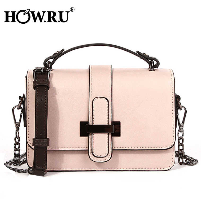 14f91f43d1b1 HOWRU Brand PU Leather Women Bags Designer 2019 Small Chain Side Bag  Fashion Woman Crossbody Shoulder Bag Ladies Luxury Handbags