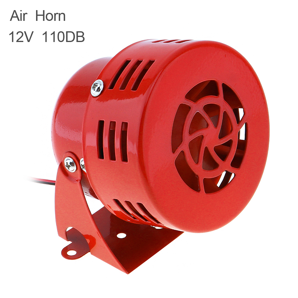Universal 12V Red Automotive Motorcycle Electric Horns Air Raid Siren Horn Auto Car Truck Motor Driven Speaker Alarm red high quality 12v 3 automotive air raid siren horn car truck motor driven alarm red siren alarm with retail box