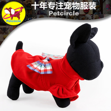 2016 petcircle new arrivals pet dog cats clothes sweet bow dog coats winter dog hoodies for chihuahua size XXS-L pet products