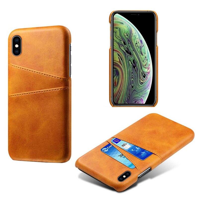 Роскошный держатель для карт чехол для iphone 5, 5S, 6, 6 S, 7, 8 Plus, 5se, кожаный чехол-кошелек для iphone X, XR, XS, Max, 11 Pro, Max, чехол для телефона - Цвет: Khaki