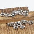 Artesanal pequeno 925 espaçadores de prata da jóia grânulos de prata esterlina resultados da jóia tibetano de mala marcadores mala de espaçadores