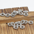 Handmade Small 925 silver jewelry spacers sterling silver Beads jewelry findings tibetan mala's markers mala's spacers