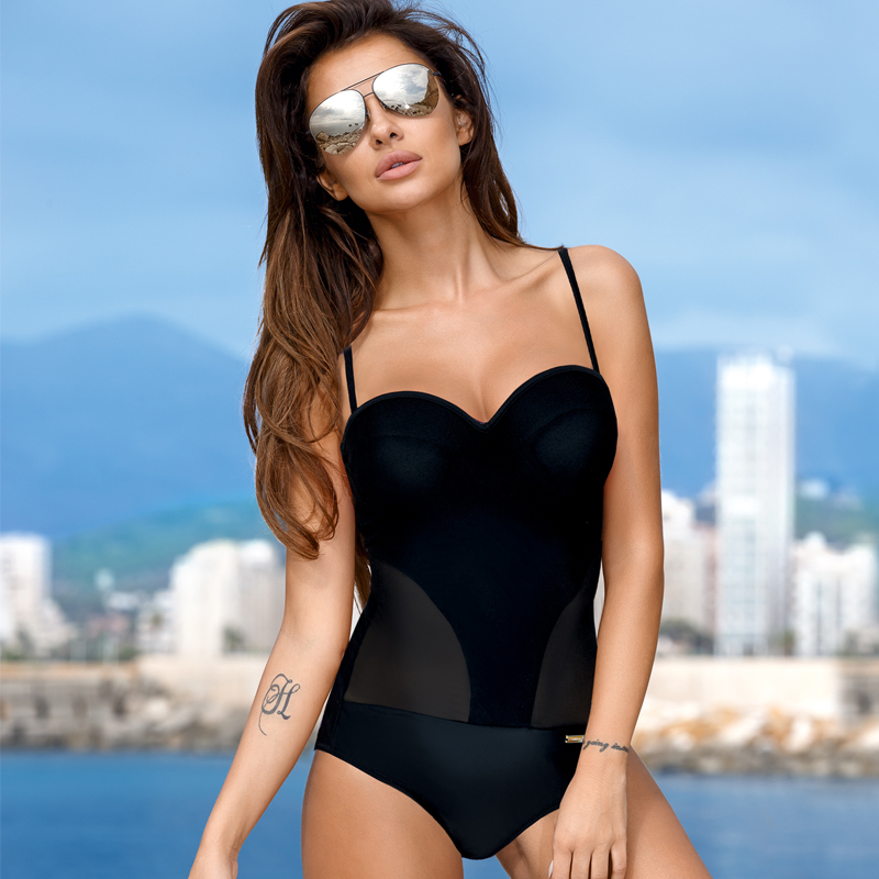 Women Monokini Push Up Padded One Piece Swimsuit Women Swimwear Bathing Suit Summer Beach Wear Bikini 2019 Bather Sexy Swimwear