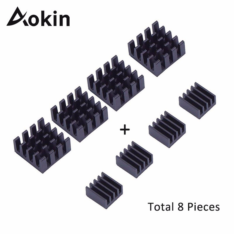 8pcs Aluminum Heatsink Heat Sink Computer Cooler Radiator For Electronic Chip Heat Dissipation Cooling Pads For Raspberry Pi