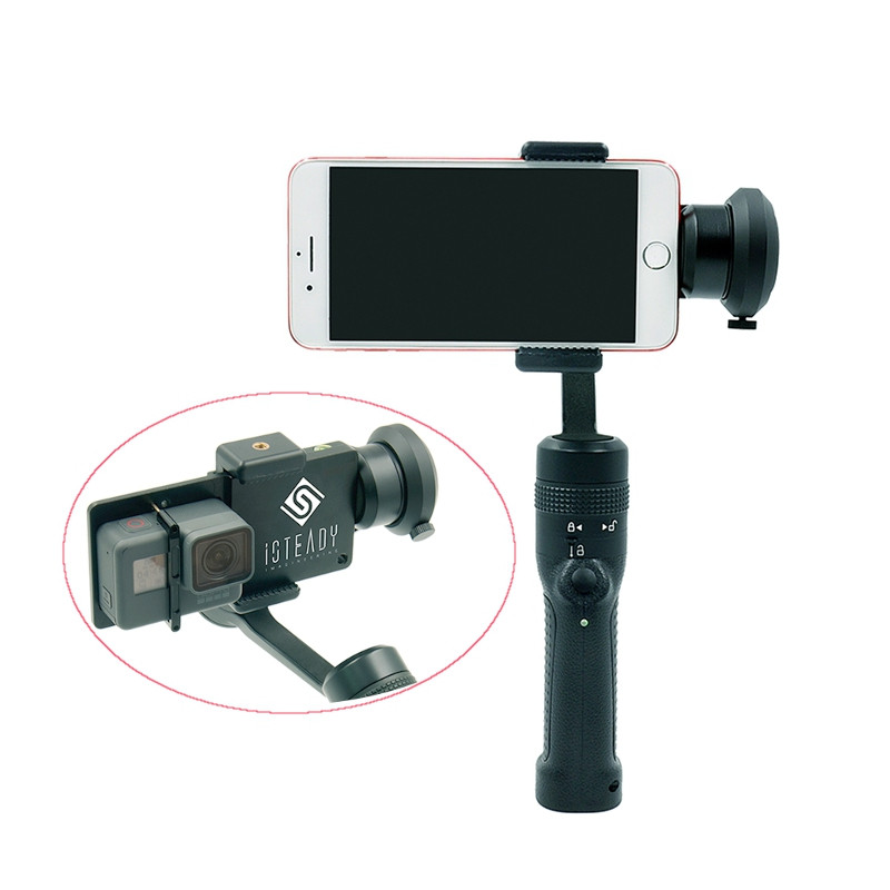 iSteady GC3 360 Degree 3-Axis Handheld Gimbal Stabilizer For 6 Inch Smartphone for GoPro SJCAM Xiaoyi for FPV Models Toys Parts [hk stock][official international version] xiaoyi yi 3 axis handheld gimbal stabilizer yi 4k action camera kit ambarella a9se75 sony imx377 12mp 155‎ degree 1400mah eis ldc sport camera black
