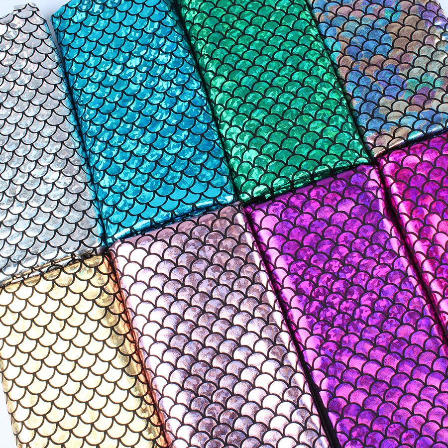 60 Wide by the Yard Sparkly Hologram Spandex Mermaid Printed Swimsuit Fish Scale Fabric Stretch fabric Dancer Swimwear