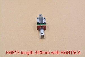HGR15 ancho de guía lineal de 15mm de longitud de 350mm con carril de deslizamiento de movimiento HGH15CA para cnc xyz axis 1 piezas