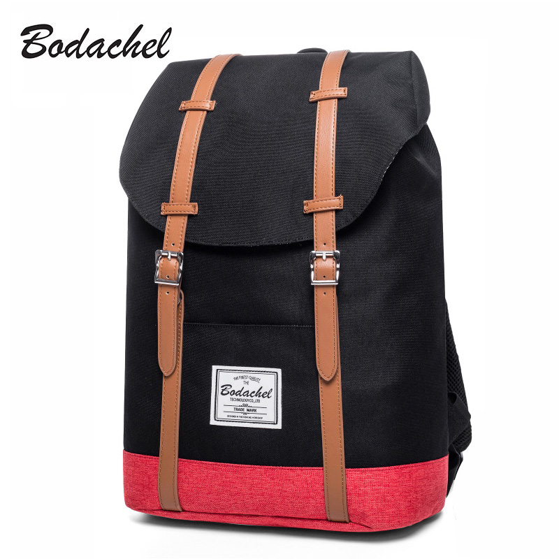 Bodachel Backpack Men Fashion Waterproof Oxford Travel Laptop Backpack College School Bags For Teenagers High Quality
