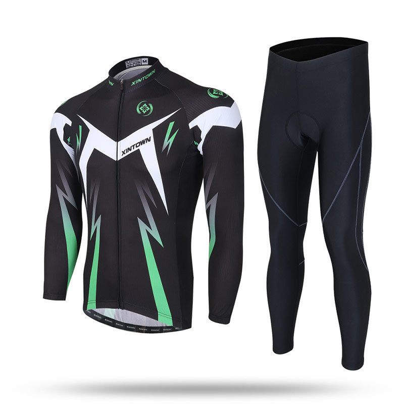 XINTOWN Cycling Jersey Sets Long Sleeve Outdoor Sports Bycle Cycle Clothing Quk Dry Riding Clothes Spring Sets Autumn Sets basecamp cycling jersey long sleeves sets spring bike wear breathable bicycle clothing riding outdoor sports sponge 3d padded