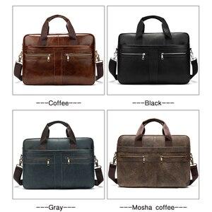 Image 5 - WESTAL Bag mens Genuine Leather briefcase Male man laptop bag natural Leather for men Messenger bags mens briefcases 2019
