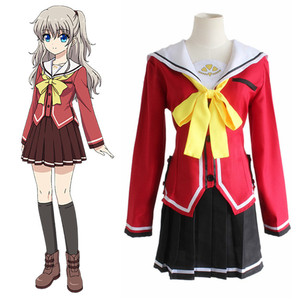 Tomori Nao Cosplay Charlotte Costume Japanese Anime Cosplay Costume For Women Adults Fancy School Uniforms Suits(China)