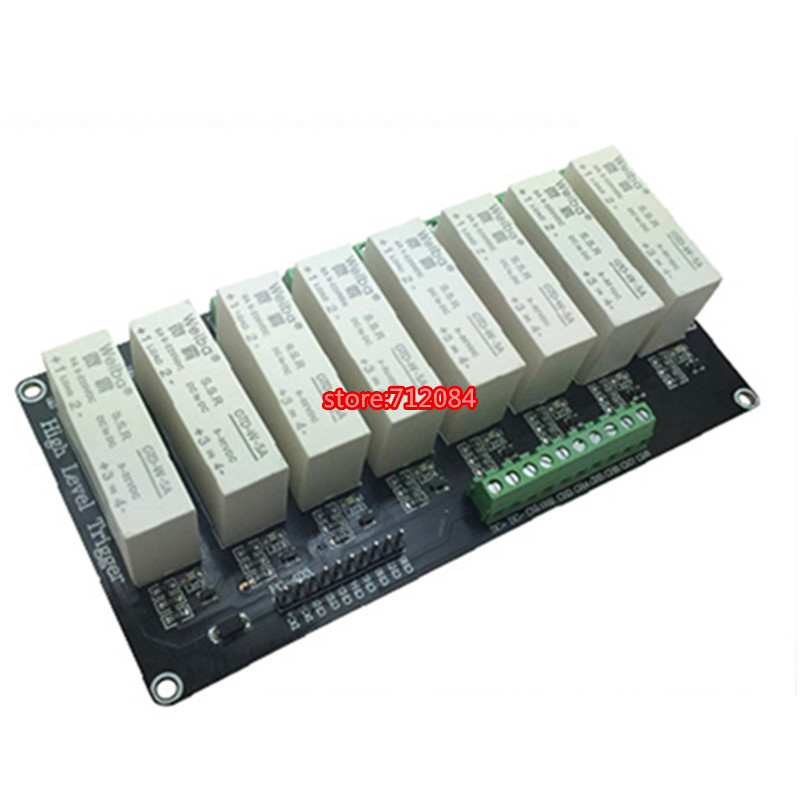 8 channel solid-state relay module high-level trigger 5A DC FOR PLC automation equipment control, industrial system control om zfv sc90 140605 industry industrial use automation plc module p v
