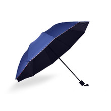 Windshield reinforced sunscreen umbrella Three Folding folding