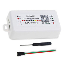 купить SP108E LED WiFi Controller iOS Android App Wireless Remote Control DC 5V~24V for WS2812B WS2811 WS2801 Addressable Pixel Strip онлайн