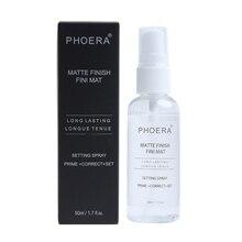 26ecddf34 50 ml aerosol del ajuste del maquillaje acabado mate botella ajuste Spray  Aceite-control Natural larga duración maquillaje Funda.