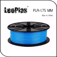 Worldwide Fast Express Within 7 Days 3D Printer Material 1kg 2.2lb 1.75mm Temperature Sensitive Blue to White PLA Filament