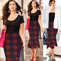 Elegante saia sereia moda 2017 verão vintage xadrez saias lápis escritório saias faldas mujer saia feminina da american apparel