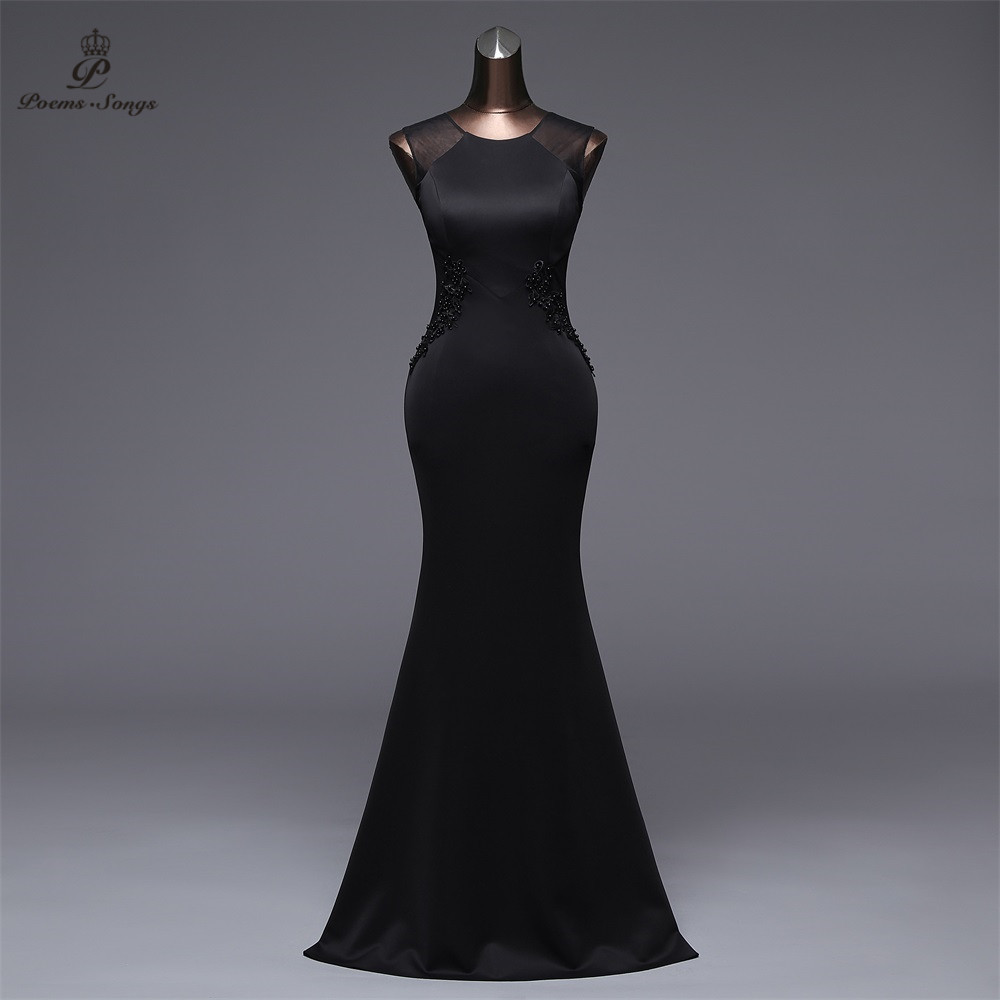 Poems Songs 2019 New Simple Mermaid   Evening     Dress   prom gowns Formal Party   dress   vestido de festa Elegant Vintage robe longue