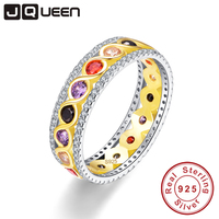 JQUEEN Infinity Gold Twisted Ring Nature Amethyst Garnet Citrine Gemstone 925 Sterling Silver Jewelry Wholesale With