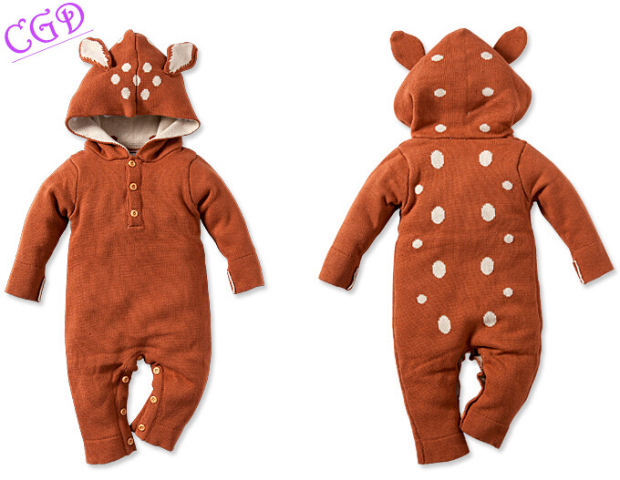 New Children Clothing Girls Boys Baby Coverall Infants Sweater Cartoon animal modeling Crawling Clothes Romper Neonatal