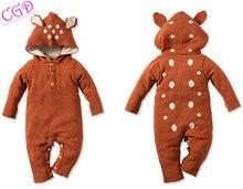 Новые дети одевая девушки парни комбинезон детей свитер мультфильм животных моделирование ползающие одежда ползунки неонатальной одежда