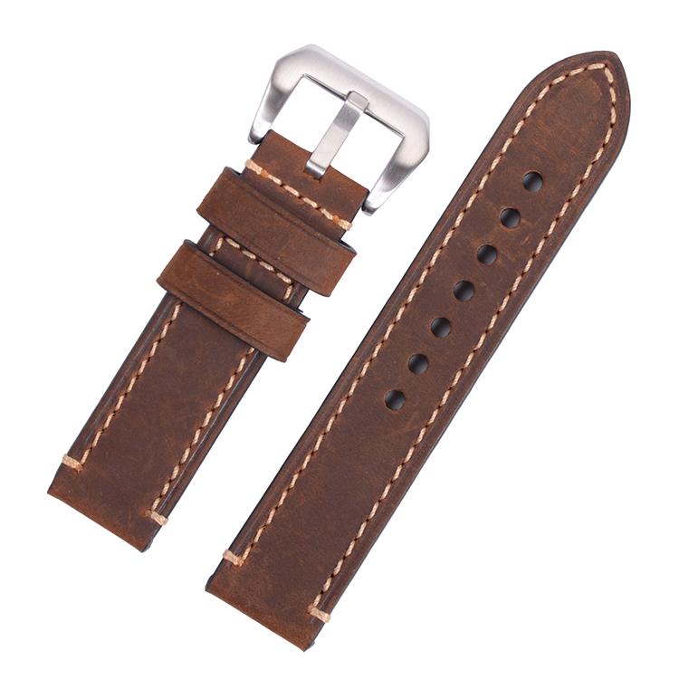 ce90631f41c Retro Handmade Couro Genuíno Assista Bracelete Banda para P Relógio ...