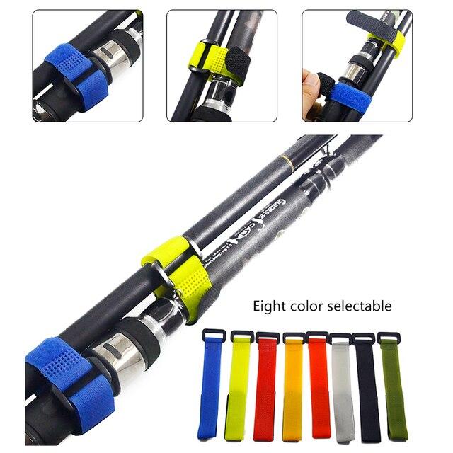 1pcs Reusable Fishing Rod Tie Holder Strap Suspenders Fastener Hook Loop Cable Cord Ties Belt Fishing Accessories YB329  3