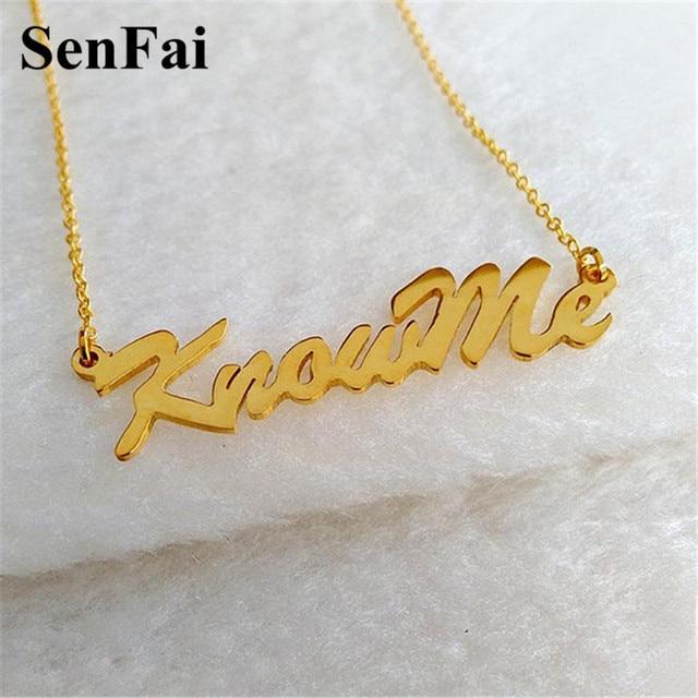 Senfai Name Necklace For Women Men Personalized Custom Chain Pendants  Necklaces Choker Jesus Best Friend Mom Tiffan Dog Jewelry e23ddc9df