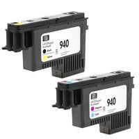 (2 pçs/set)/Lote Frete Grátis 940 C4900A C4901A Cabeça De Impressão Preto/Amarelo Magenta / CyanFor HP OfficeJet Pro 8000 8500 de Impressora